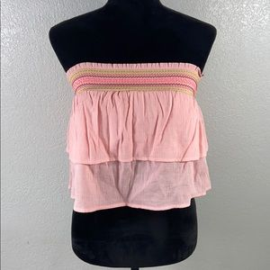 [ AERIE ] Embroidered Sleeveless Top with Bandeau